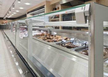 Lämpöpöytä palvelulinjastoon lämpöhauteella - Suomen myymäläkaluste